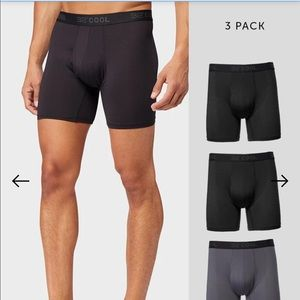 32 Degrees COOL MEN'S 3 PACK ACTIVE MESH BXR BRIEF